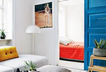 Primary Colours Interiors / Interiors that use the three primary colours as their base.