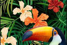 :ϟ: Happy Colors #4 :ϟ: / - Ambiance Tropicale - Le printemps s'installe doucement, et pourtant on rêve déjà de l'été. Voici un avant-goût de cette chère période estivale avec une sélection déco aux saveurs tropicales :) / by Gautier