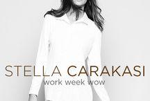 Work Week Wow / Make dressing for the work week essentially effortless. Stella Carakasi offers clean lines, crisp fabrics in classic styles that will make dressing for the work week that much easier.