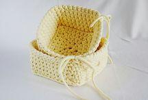 Crochet / szydełkowe kosze, crochet basket, Square basket, szydełko,