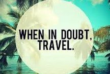 Travel Quotes / If you're looking for some travel inspiration, you found it. Check out these beautiful travel quotes about finding yourself, exploring the world, happiness through travel and much more.