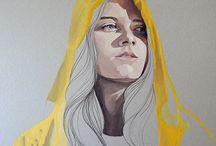 Art portraits ideas