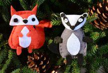 Déco : Inspiration Noël / Idées de décorations pour le sapin, la table & idées cadeaux pour un Noël fait maison