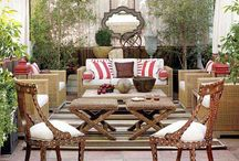 Outdoor decor / Creating an oasis behind a screen / by Francie DePaolo