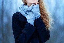 Winter outdoor portraits