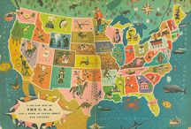 Vintage Maps / We love vintage maps, especially when you can see history through changing borders and names.