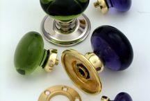 Collection Verre / Une collection de boutons de meubles et de portes en verre soufflé. Fabrication Artisanale en Cornouailles.... www.alter-deco.com