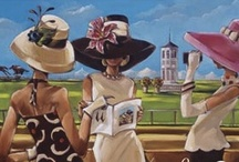 Kentucky Derby Day / Why did I center the first novel of the In Darkness series around the Kentucky Derby? This board tells all. The beautiful clothing, the hats, the bourbon, and incredibly fast horses is an incredible day and makes for a glorious setting for a romantic suspense / thriller novel.