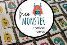 Free printable monster numbers