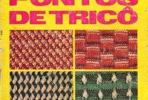 livro de tricô e croché