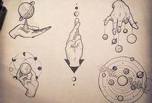Крутые татуировки космос