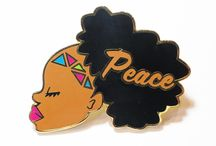 Justice Pins / Enamel and laser cut wood pins to inspire social change ✊✊✊ made with passion and love in  Oakland, CA by Fresh to Def Collective - a Black Woman Owned Business  www.freshtodef.co