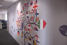 Wall Designs / Creative and inspiring #walldesigns and #murals bring the #workplace to life