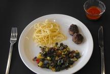 Stap voor Stap - Spaghetti met gehaktballen, groenten en tomatensaus