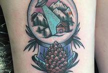 Snow globe tattoo