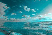Landscape Teal / Turquoise / Mint
