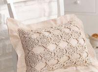 Romantic crochet pillow