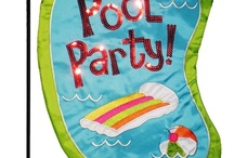 Pool Summer Fun House Flags and Garden Flags