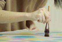 コラボレーション 小松美羽(Miwa Komatsu) / 職人とアーティストとのコラボレーションで創作する新しいフィールドのアート作品として、2014年から小松さんとのコラボレーションがスタートしました。