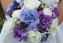 Pearls and Lace / My wedding planning. Colors: Blue and purple w/ white accent. Theme: Pearls and Lace.