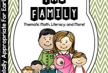 Family Theme / Family thematic fun for kindergarten math, reading, social studies, art, music, writing, and science.