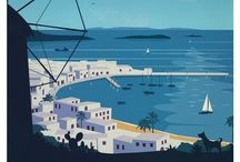 Go Greece  - Travel Posters