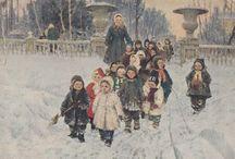 Детский сад / kindergarten / иллюстрации, живопись, художественные фото про работу детского сада, воспитателей, нянечек..