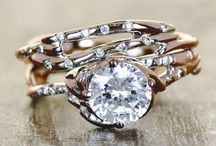 Rings and Things / Ken and Dana Design's engagement rings combine sculptural settings with recycled metals, conflict-free diamonds, and exotic gemstones.  / by Ken & Dana Design