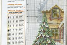 cross stitch christmas, angels...