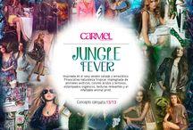 Jungle Fever / Inspirada en el sexy verano salvaje y amazónico. Provocativa naturaleza tropical impregnada de animales exóticos, colores ácidos y terrosos, estampados orgánicos, texturas relevantes y el infaltable animal print.