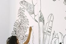 wall drawing ideas