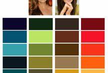 Autumn/spring types/ kleurpaletten