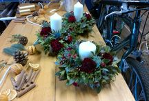 Christmas Wreaths and Decorations / Traditional Christmas wreaths, table decorations and swags all designed by me.  Available this Christmas.  Phone or e-mail for details and to place your order.