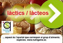 LACTICS / LÁCTEOS / Tableros de lácteos: leche, quesos y otros