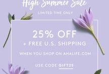 25% Discount for a limited time! / Receive a 25% discount when you purchase from @ahalife
