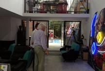 Dans l'atelier de Peter Klasen / Atelier de l'artiste Peter Klasen en région parisienne