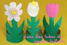 Avec des tubes de papier toilette / With TP rolls / utilisez et recyclez des tubes de papier toilette pour créer!