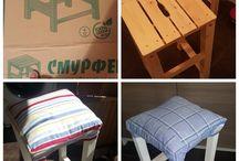 барные стулья из банкетки
