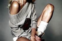 Studio model fashion shoot