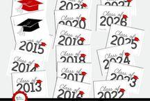 Graduation DIY / DIY graduation | printables | games | activities | decor | party ideas | gifts