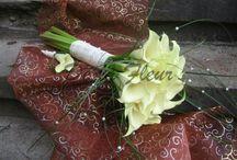 Svatební kytice De la Fleur - wedding bouquets / wedding bouquets, brudbukett, bouquet de mariée, Brautstrauß