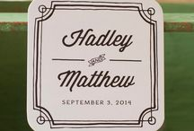 "Personalized Wedding Coasters / 4x4"" double thick coasters ready for gift giving, favors, and more!"