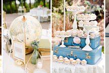 Wesele w stylu podróżniczym / podróżnicze wesele ślub motyw przewodni podróż
