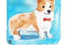 Dog Poems & Haikus & Watercolors