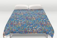 Awesome Duvet Covers to brighten your bedroom / Add a cool duvet cover to your bedroom add change the room