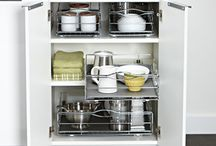 Cupboard Organizing Ideas / Ideas to keep the insides of your cabinets organized. Avoid nose-diving into your cabinets in search for items that are buried deep in the back, far out of reach!