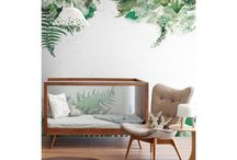 Botanical wallpapers for kids room