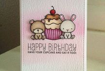 card with cute  animals