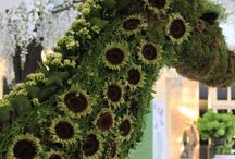 INSTALLATIONS / Installation floral inspiration. This board is a mixture of our designs and other floral designers.