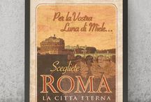 """L'Italia e le sue meravigliose Città d'Arte   VIMAGES STAMPE / Immagini dal sapore """"rétro"""", di un tempo andato, ideali elementi di arredo, perfette idee regalo e souvenir che celebrano l'Italia. #vimages #vimages.it #stampe #vintage #stampevintage #italia #italiavintage"""